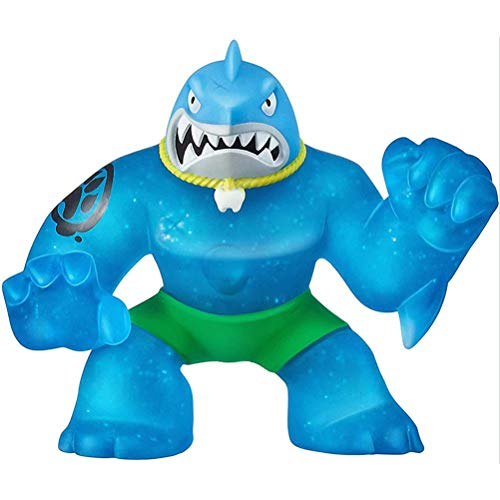 SFNTION Heroes of Goo Zit Zu Super Stretchy Action Figure Thrash The Shark Descomprime los Juguetes