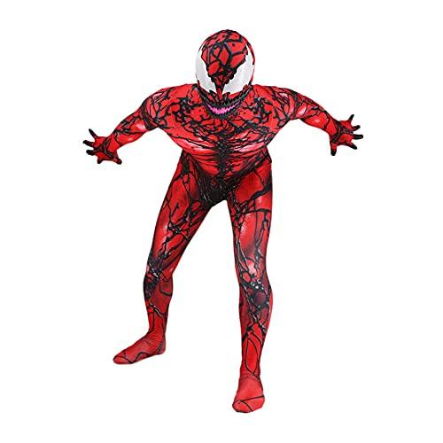 MYYLY Niño Cosplay Venom Spiderman Onesies Regalo Cumpleaños Body Juguete Mono Fanáticos Película Ropa Superhéroe Halloween Atrezzo Rendimiento Escenario Leotardo,A-M Men(160~165CM)