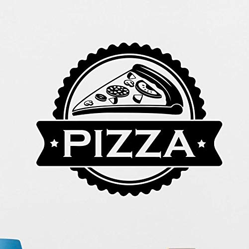 Pizza sticker voedsel sticker poster vinyl kunst muur sticker muur sticker decoratieve muurschildering pizza sticker 87x105cm