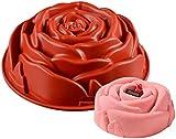 11'Stampo per Torta di Compleanno con Fiore di Rosa Stampo per Torta in Silicone/Stampo in Silicone per Torta di Compleanno, pagnotta, Muffin, Brownie, Cheesecake, crostata, Torta, sformato