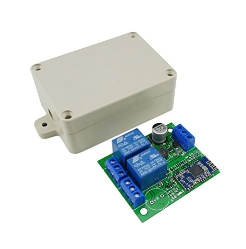 Aihasd 2 Channel Relay Module Bluetooth 4.0 BLE Switch for Apple Android Phone IOT with Box