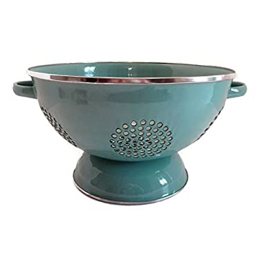 The Pioneer Woman Flea Market Enamel Heavy Duty 5 Quart Colander - Turquoise Blue