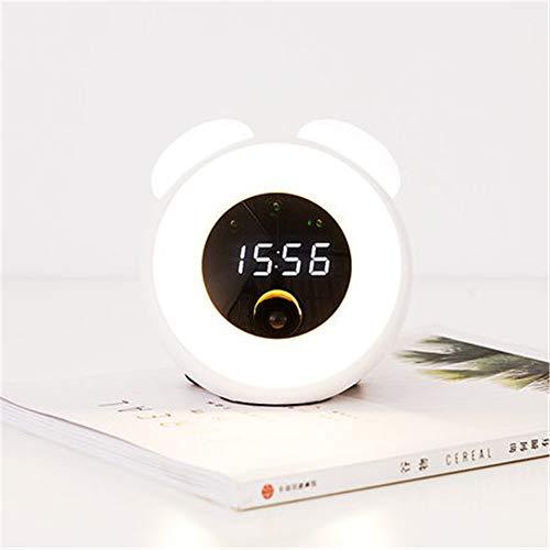 ZCHPDD Smart Home Led Sensor Nachtlicht USB Lade Nacht Atmosphäre Licht Mit Zeit Wecker Kreative...