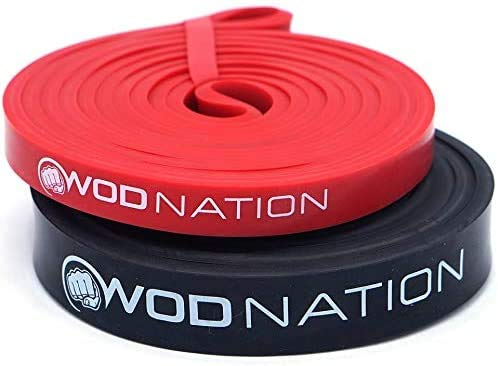WOD Nation Pull up Assistance Band Set - Best for Pullup Assist, Chin Ups, Resistance Band Exercise, Stretch, Mobility Bench Work & Serious Fitness