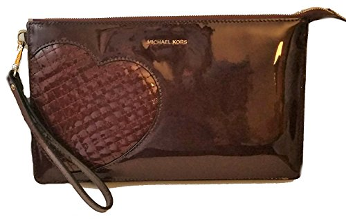"""Glossy Patent Leather Gold-Tone Hardware 6"""" Removable Strap Measures: 10"""" X 6"""" X .75"""""""""""