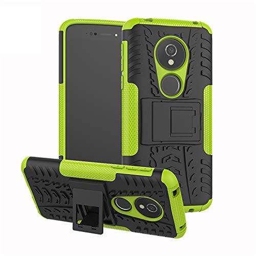 betterfon | Outdoor Handy Tasche Hybrid Hülle Schutz Hülle Panzer TPU Silikon Hard Cover Bumper für Motorola Moto E5 / G6 Play Grün