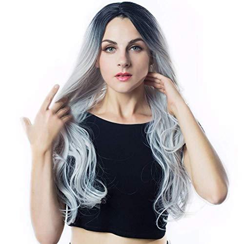 WIGSUEG Perruques Longues Ondes à la Mode pour Femmes - Doux & Lisses, Confortables & Respirants Cheveux Frisés Synthétiques - 70cm