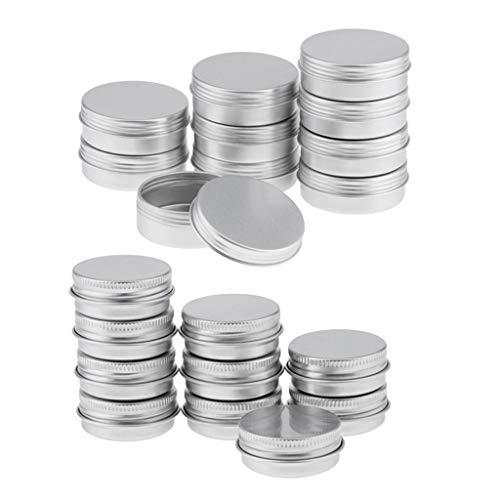 SDENSHI 20 Pcs/Lot 15 Ml 25 Ml Ronde En Aluminium Boîtes Vis Couvercle