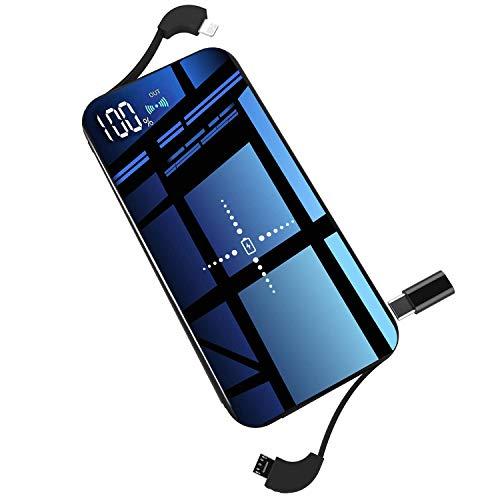 モバイルバッテリー ワイヤレス充電器 Qi 10000mAh 大容量 軽量 薄型 急速充電 無線充電…