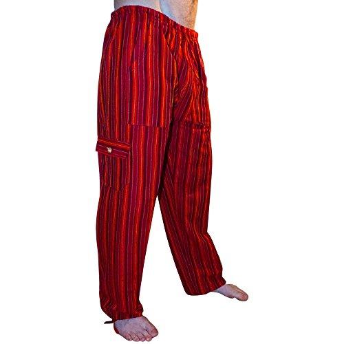 Pantalones coloridos de algodón de comercio justo, fabricados en Ecuador para Tumi