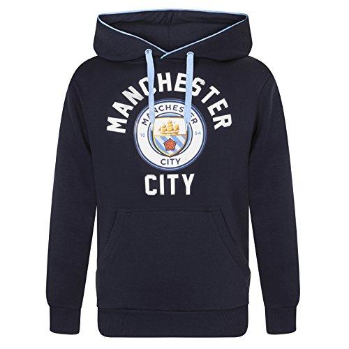 Manchester City FC - Herren Fleece-Kapuzenpullover mit Grafik-Print - Offizielles Merchandise - Geschenk für Fußballfans - L