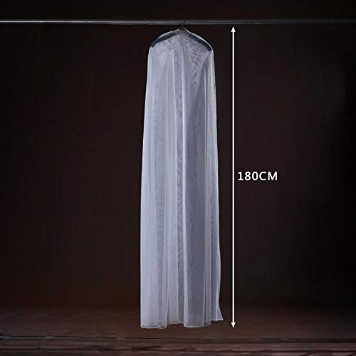 Dress Bags Covers Transparent Soft Tulle Dust Cover for Home Clothes Wedding Dress Garment Bridal Gown Coat Suit Clothes Covers Long Clothes Bags Transparent Hochzeit Dress Soft White Breathable