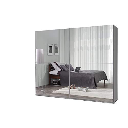 mb-moebel Kleiderschrank Schrank Garderobe Zweitürenschrank Schwebetürenschrank Schwebetüren 2-Türig Schlafzimmerschrank 244cm Maxi (Maxi 27 (Spiegel))