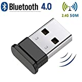 HANPURE Adaptateur USB Bluetooth 4.0, Clé Bluetooth, Plug & Play 2.4 Ghz, Parfait pour Casque Bluetooth, Souris, Clavier, Imprimantes, Ordinateurs, pour Windows 10/8.1/8/7/Vista/XP