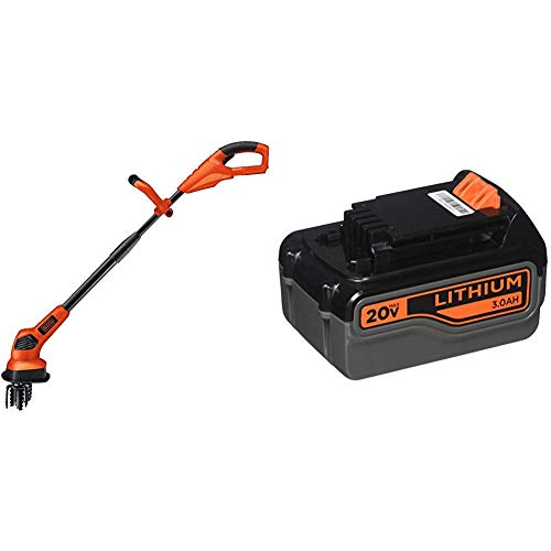 Great Deal! BLACK+DECKER 20V MAX Garden Cultivator/Tiller with Lithium Battery 3.0 Amp Hour (LGC120B...