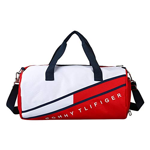 Yuqianqian Large Sports Bag Running Bag Sport Gym Bag Waterproof Foldable Travel Duffle Bag With Shoes Compartment And Wet Pocket Training Handbag Weekend Travel Bag For Men And Women for Men Women