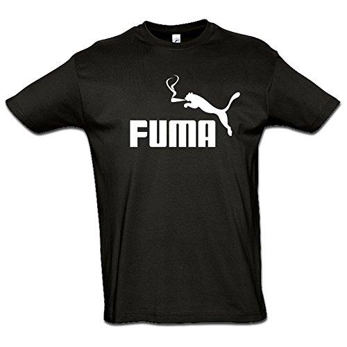 Tee Shirt Geek - Humour - Parodie - FUMA - 100% Coton - Standard - Noir - M