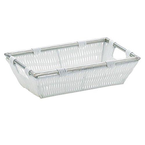 kela Korb Noblesse 26x16x7cm aus Kunststoffgeflecht in weiß, Plastik, 26 x 16 x 7 cm