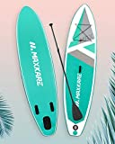 MaxKare Sup Inflatable Stand Up Paddle Board with 10'32''6'' Premium Blow Up Paddleboard & Bi-Directional Pump & Backpack Portable for Youth Adult Have Fun in River, Oceans and Lakes