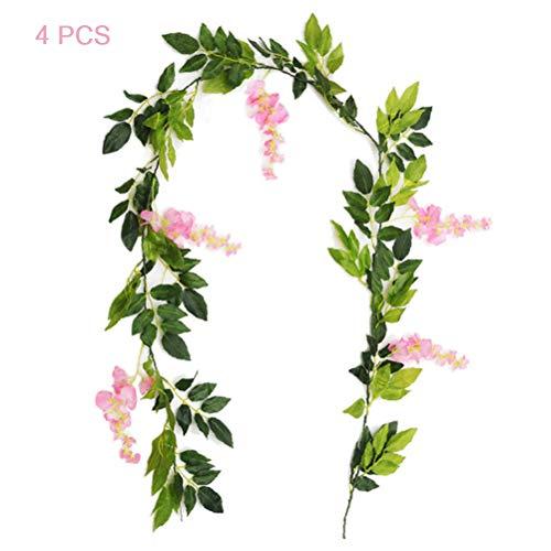 MAOJIE Guirnalda de Flores Artificiales Colgar en casa, jardín, Ceremonia, Boda, Arco, decoración Floral