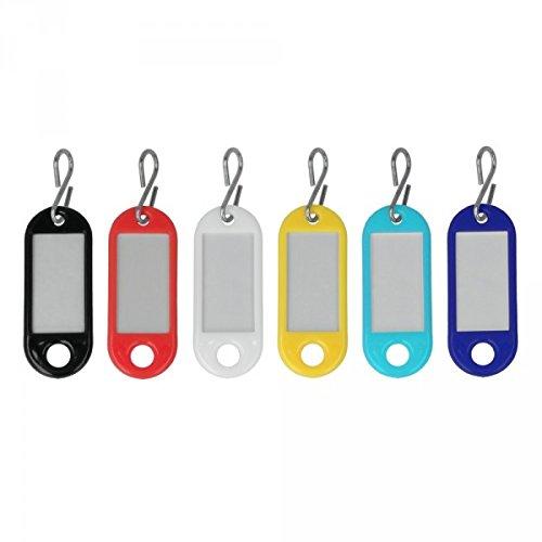 Metaltex 297500 Porte-étiquettes pour clés 6 pcs, Multicolore, 0,4 cm