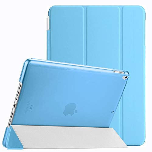 Weuiean Compatible with iPad 7th Generation 10.2 Inch 2019 Case Dual Separable Leather Cover Folio Stand Shockproof Hard PC Back Slim Fit Auto Sleep Wake Magnet Case for A2197 A2198 A2200 - Light Blue