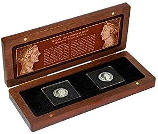 IMPACTO COLECCIONABLES Monedas Antiguas - 2 Denarios de Antonino PIO y Faustina I en Plata