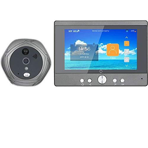 Sbeautli WiFi Timbre inalámbrico Digital Puerta del Peephole 5