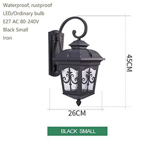 Meixian Wandlamp, vintage, ijzeren bruin, buitenkant, waterdicht, roestvrij, LED E27 voor balkon, terrasweg, tuinhuis, hal, eenvoudig retro