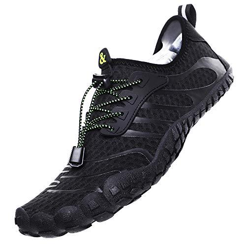 Ikeyo Hombre Secado Rápido Respirable Zapatos de Agua Antideslizante Surf Escarpines Playa Natación Playa Zapatillas