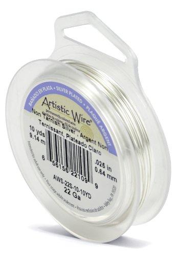 Artistic Wire 22-Gauge Tarnish Resistant Silver Wire, 10-Yard by Beadalon