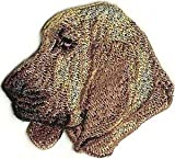 VirVenture 2 1/8' x 2 1/4' Bloodhound Dog Breed Portrait Left Embroidery Patch Great for Hats, Backpacks, and Jackets.