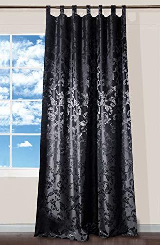 Wohntrends für Ihr Zuhause Schlaufenschal Lyon schwarz | Barock | BxH 140x245cm | mit Universalband | Vorhang mit 7 Schlaufen