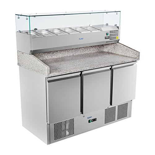 Royal Catering - RCKT-140/70-V - Pizza-Kühltisch mit Kühlaufsatz - 140 x 70 cm