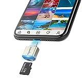 TF Kartenleser für iPhone iPad, Rocketek Micro SD Karten adapter Lightning MS Speicherkarten Kamera reader Kompatibel mit iPhone X / 8 Plus / 8/7 Plus / 7 / 6s Plus / 6s /, iPad Mini / Air