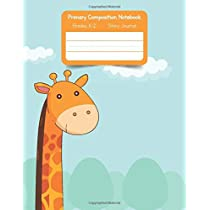 Primary K2 Composition Notebook: For Kids K-2 Grades Story Journal | Picture Space and Dashed Midline Giraffe Cover