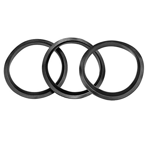 Aallo Pack Of 3 Bath Plug Seal Ring Sealing Gaskets O-Rings Rubber Pop Up Valve Waste Fitting for Sink 39mm/1.5in for Metal Basin Plugs- Black