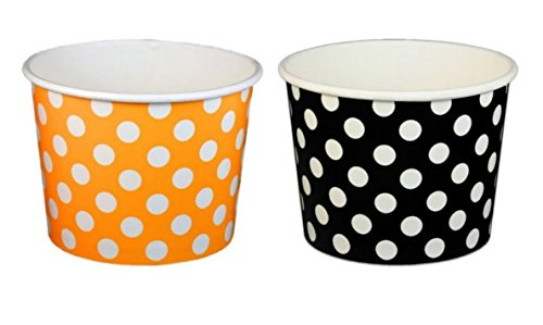 Orange and Black Polka Dot Cups 16 oz - 50 count by Beach