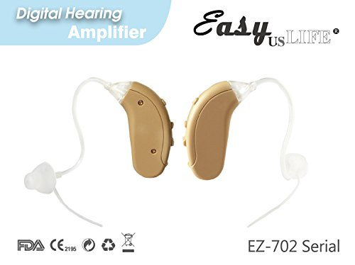 Easyuslife Ear Amplifiers Set Of 2 Hearing Amplifiers Devices With Digital Noise Cancellation , Discreet and Lightweight Ear Amplifying Machine With Volume and Frequency Control System
