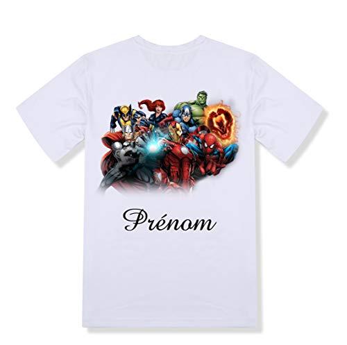 T-shirt enfant personnalisé Avengers prénom et taille au choix