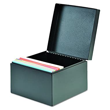 SteelMaster 263534BLA Index Card File, Holds 400 3 x 5 Cards, Black