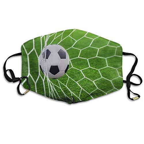 Fußball Fußball im Tor Netz Printeddust Unisex Face Cover