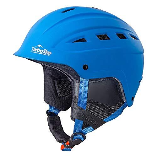 TurboSke Ski Helmet, Snowboard Helmet, Snow Sports Helmet for Men Women and Youth (Blue, M)