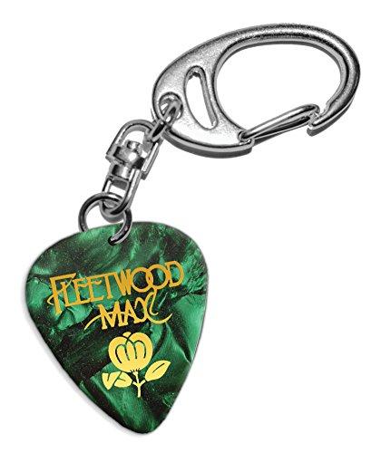 Fleetwood Mac Púa de Guitarra Llavero Keyring Green Pearl (GHF)
