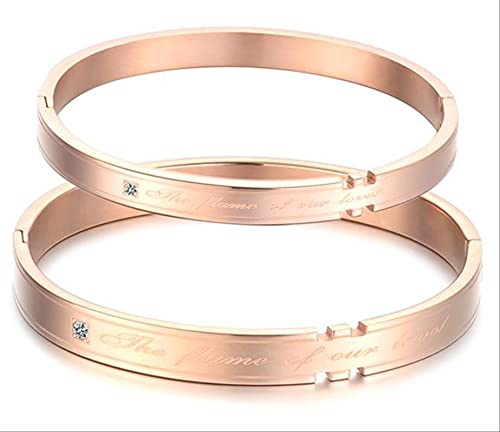 SLIYFJKQLX Titanium Couple Bracelet Bracelets, Jewelry Sets With Diamond Bracelets, Valentine's Day Gifts