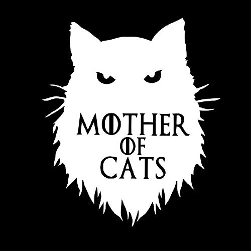 Pegatinas de Coche-Calcomanía Etiqueta engomada de la pared del vinilo de Khaleesi de Juego de tronos de la madre gato Etiqueta engomada del coche o del cuaderno de la etiqueta engomada del coche