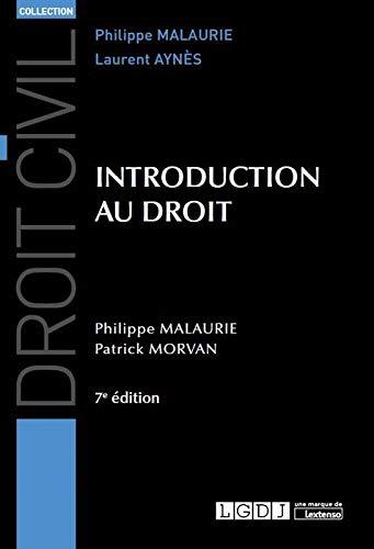 INTRODUCTION AU DROIT - 7EME EDITION