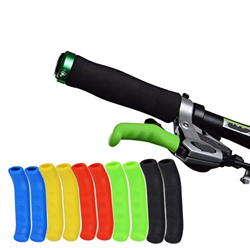 Juscycling Anti-Slip Shock-Absorbing and Comfortable Brake Handle Silicone Sleeve Universal Brake Lever Protection Cover for Road Bike and MTB2 Pairs (Green)