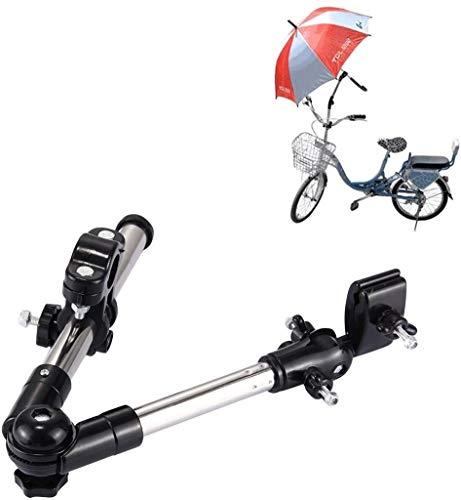 Universal Faltbar Fahrrad Regenschirm Bar Halter - Regenschirm Ständer Rollstuhl Schirm Klemme Griff Anschluss Verstellbarer Schirmhalter für Kinderwagen Stuhl Rollstuhl Roller Golf Cart