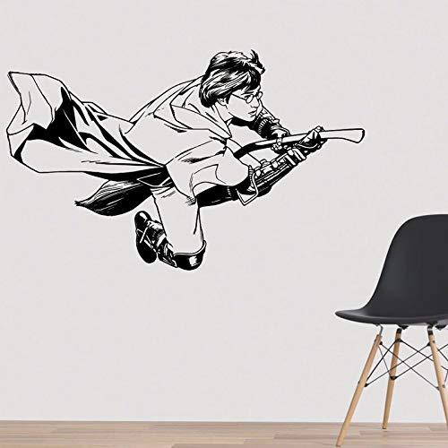 wZUN Adesivo murale Volante Power Movie Smash Sticker Decorazione murale Magica Regalo di Compleanno per Adolescenti 81x50cm